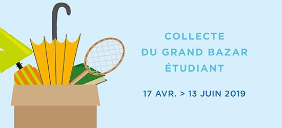 Collecte du grand bazar étudiant - 17 avril > 19 juin